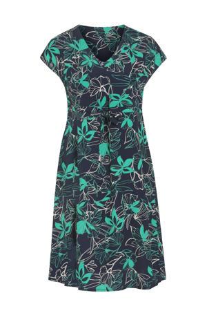 A-lijn jurk met all over print marine/turquoise
