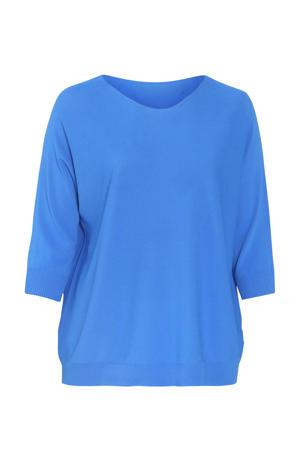 fijngebreide top blauw