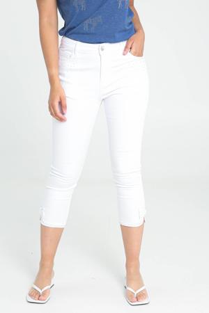 slim fit capri jeans wit