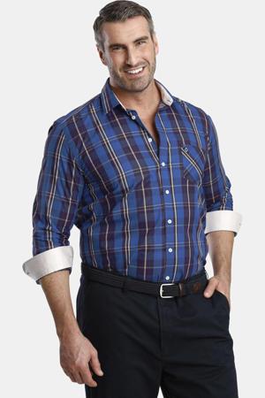 geruit oversized overhemd DUKE IEFAN Plus Size blauw