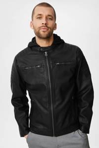 C&A The Outerwear imitatieleren jack zomer zwart, Zwart