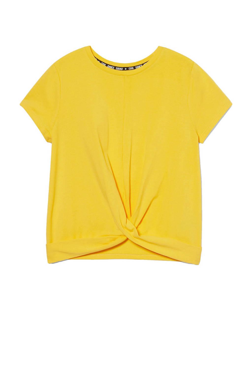 C&A Here & There T-shirt met biologisch katoen geel, Geel