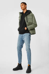 C&A Clockhouse tapered fit jeans blauw, Blauw