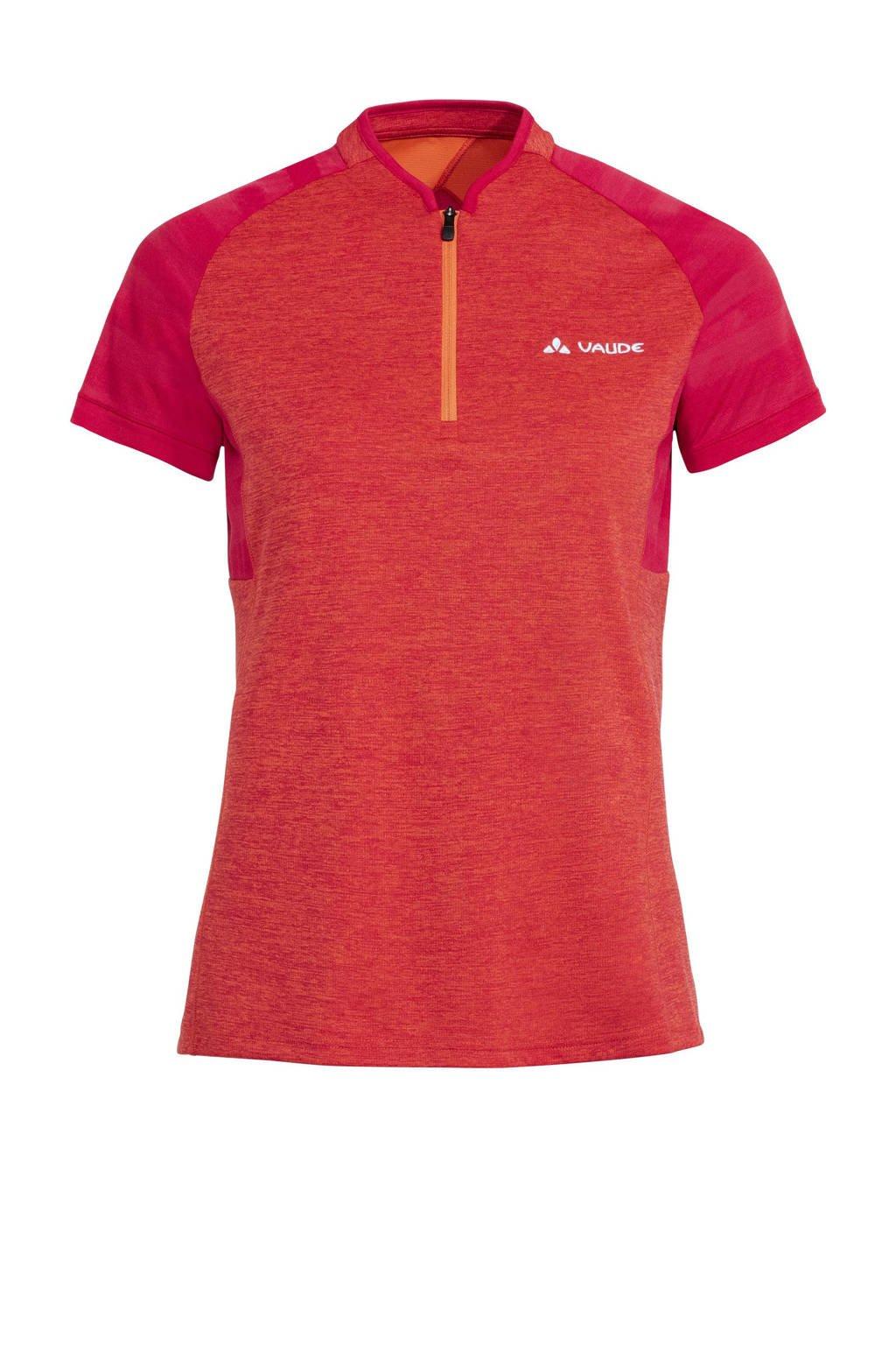 VAUDE   fiets T-shirt Tamaro III oranje/roze, Oranje/roze