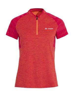 VAUDE   fiets T-shirt Tamaro III oranje/roze