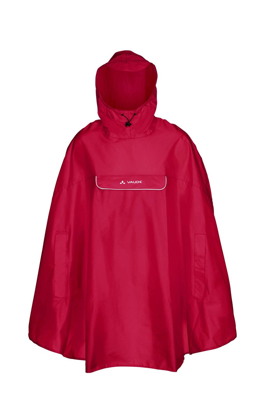 VAUDE regenponcho Valdipino rood, Rood