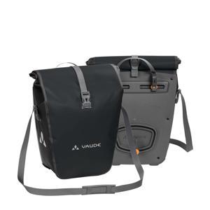 glanzende Aqua Back achter fietstassen - set van 2 zwart