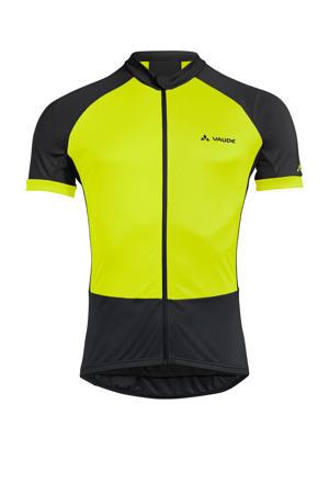 fiets T-shirt Advanced Tricot zwart/geel