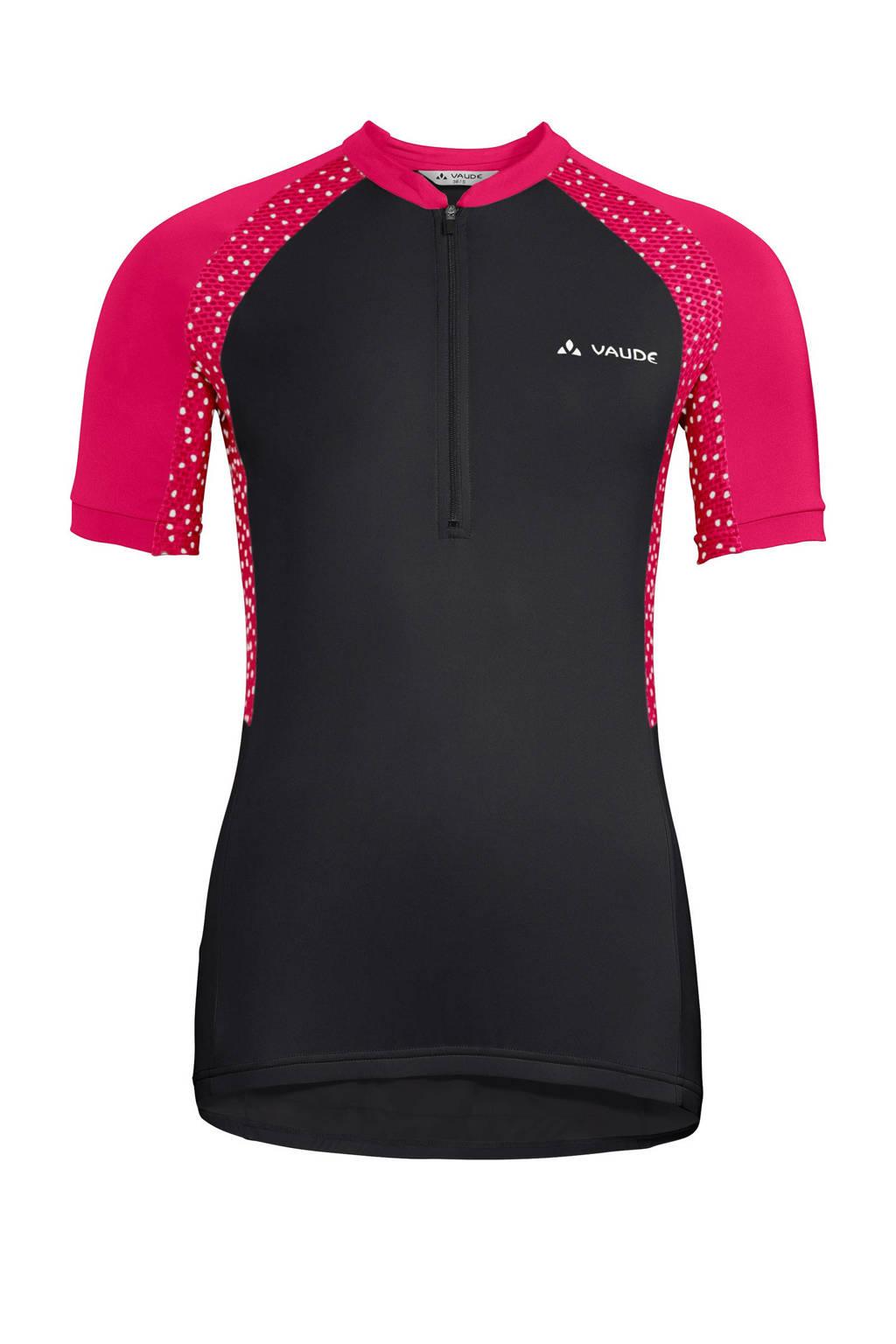 VAUDE fiets T-shirt Advanced Tricot IV zwart/roze, Zwart/roze