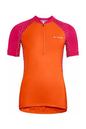 fiets T-shirt Advanced Tricot IV oranje/roze