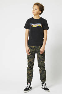 America Today Junior T-shirt met printopdruk washed black