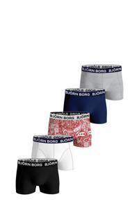 Björn Borg   boxershort Core Boxer - set van 5 rood/blauw/multicolor, Rood/blauw/multicolor
