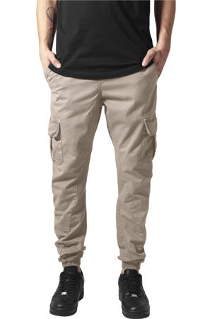 regular fit joggingbroek beige