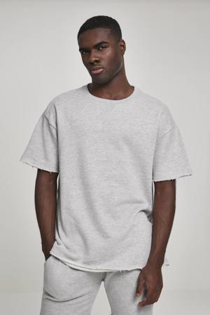 gemêleerd T-shirt HerringboneTerry  grijs melange