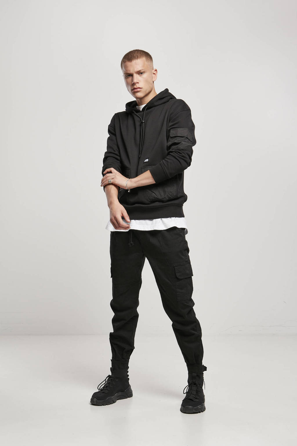 Urban Classics hoodie zwart, Zwart