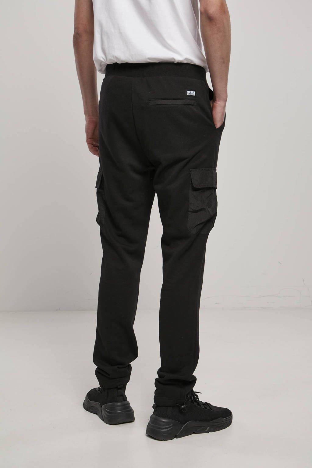 Urban Classics regular fit joggingbroek Commuter zwart, Zwart