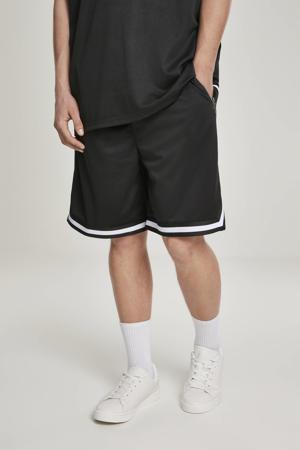 regular fit short met zijstreep zwart