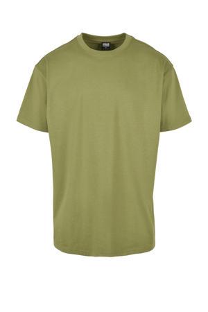 oversized T-shirt olijfgroen
