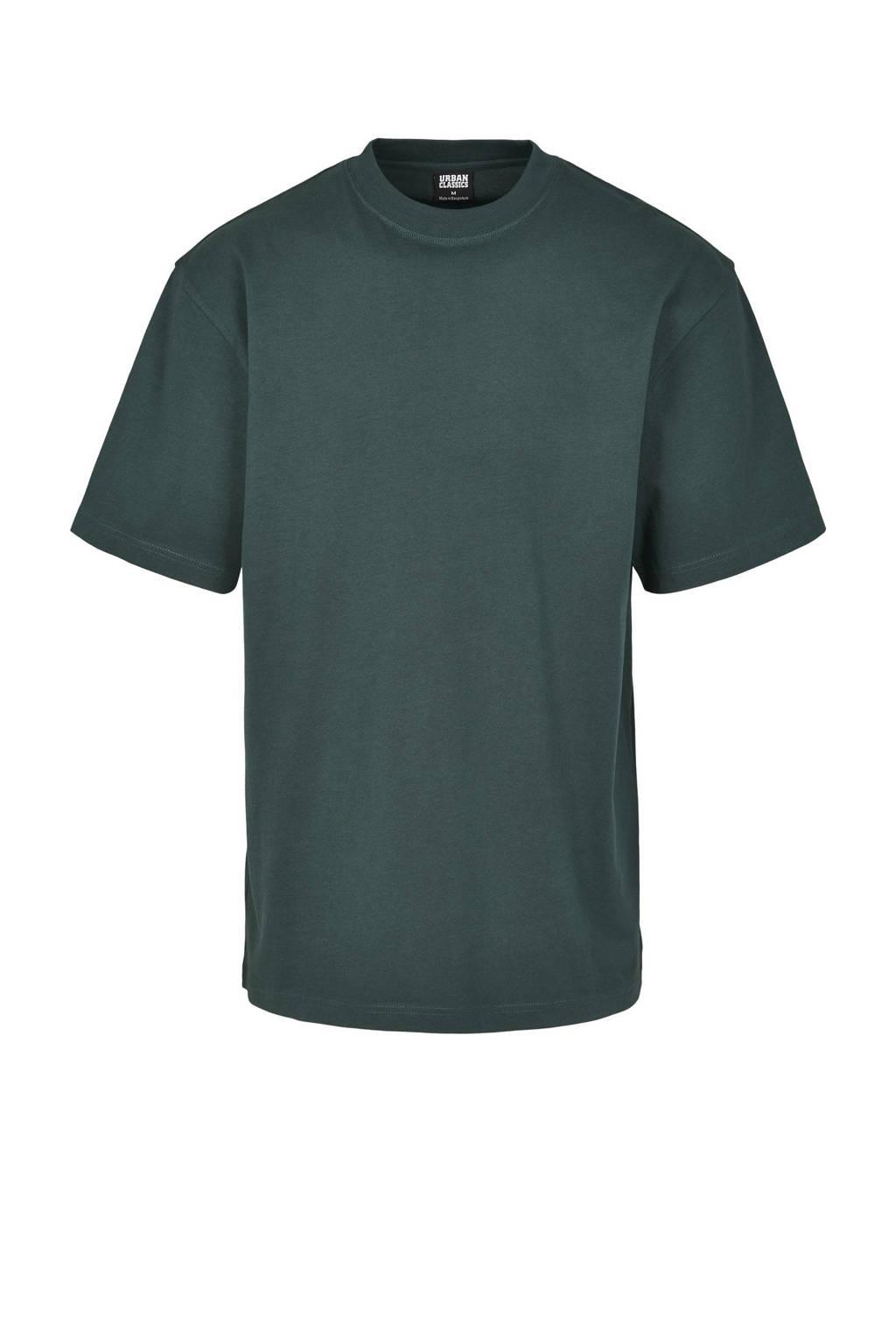 Urban Classics oversized T-shirt donkergroen, Donkergroen