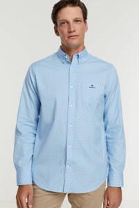GANT regular fit overhemd met all over print 468capri blue, 468CAPRI BLUE