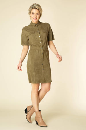 jurk Tibby olijfgroen