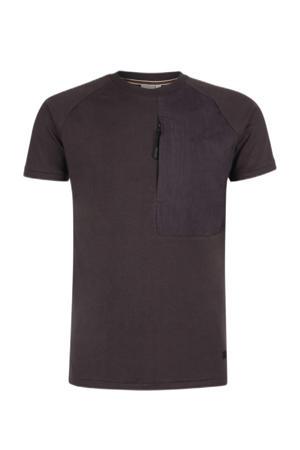 T-shirt Tibo donkerbruin