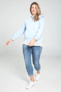 Paprika hoodie lichtblauw/ecru, Lichtblauw/ecru