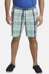 Charles Colby geruite loose fit chino short BARON SERVAN Plus Size turquoise, Turquoise