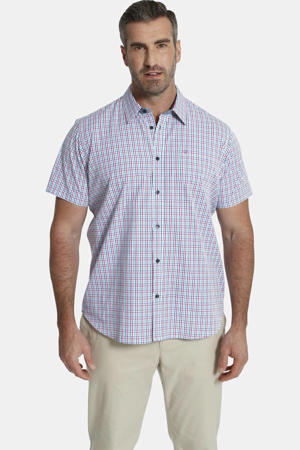 geruit oversized overhemd DUKE FARNEL Plus Size met contrastbies multi