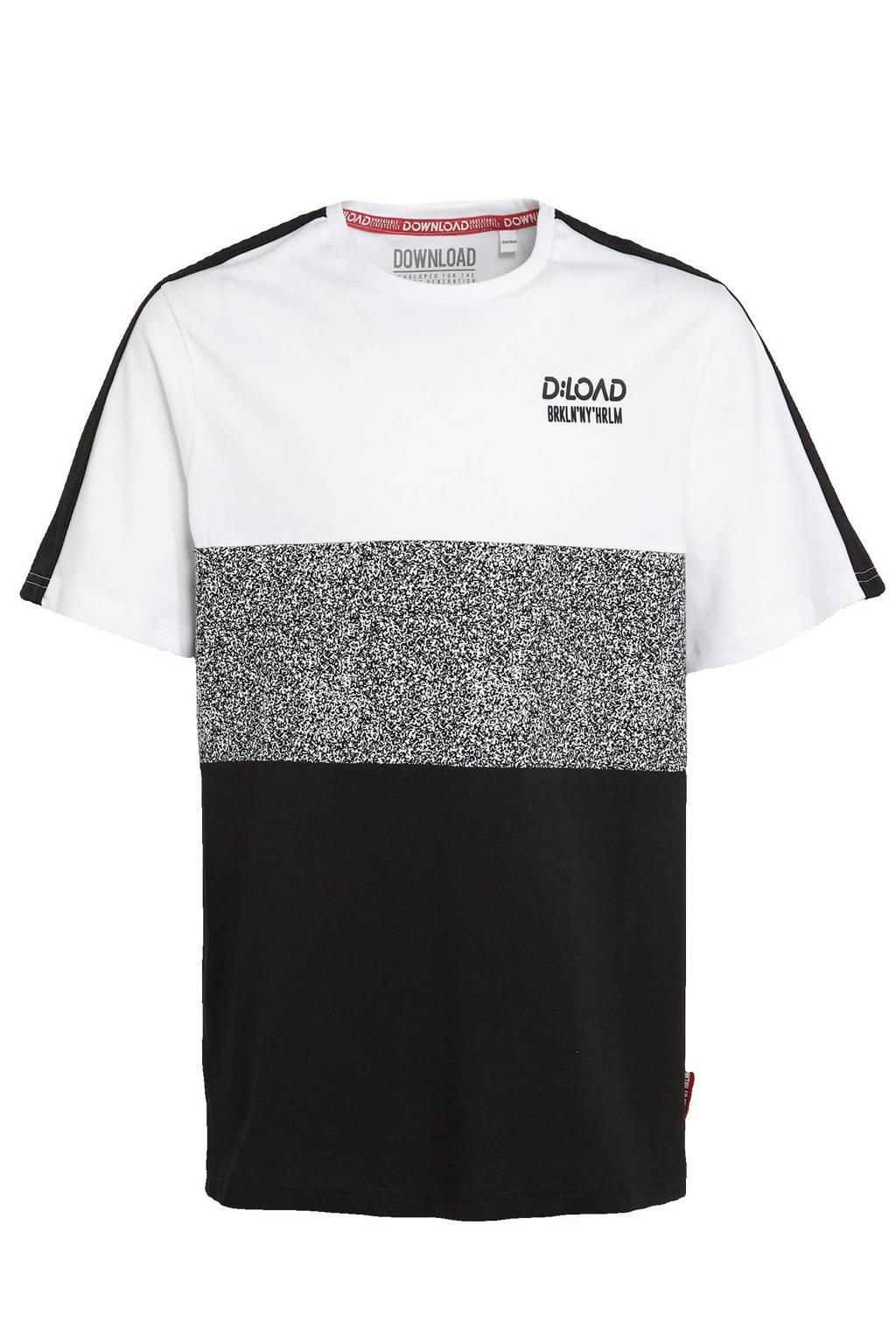 C&A T-shirt van biologisch katoen wit/zwart, Wit/zwart