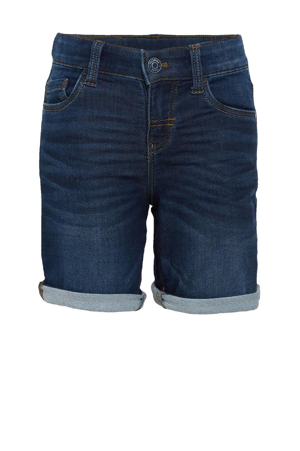 C&A slim fit jeans bermuda donkerblauw, Donkerblauw
