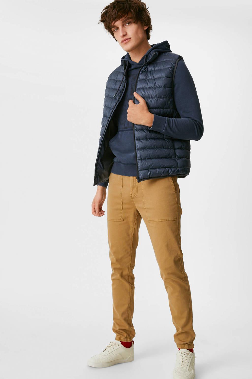 C&A hoodie met printopdruk donkerblauw, Donkerblauw