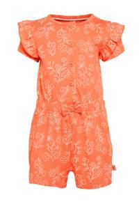 C&A Baby Club jumpsuit van biologisch katoen oranje/wit, Oranje/wit