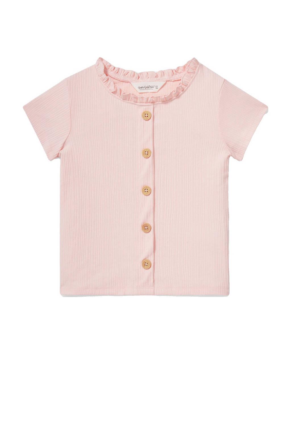 C&A Happy girls Club T-shirt met ruches roze, Roze