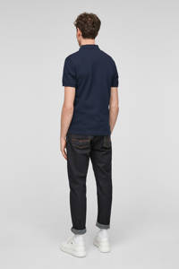 s.Oliver regular fit piqué polo donkerblauw, Marine