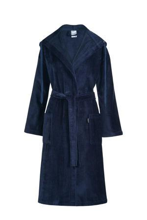 badstof badjas Rio met capuchon donkerblauw