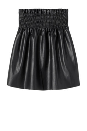 rok NKFONEA van gerecycled polyester zwart