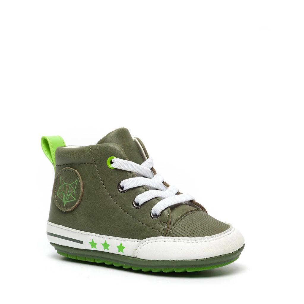Scapino Groot   leren babyschoenen groen, Groen