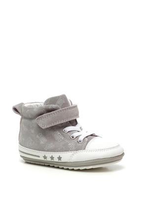leren babyschoenen grijs