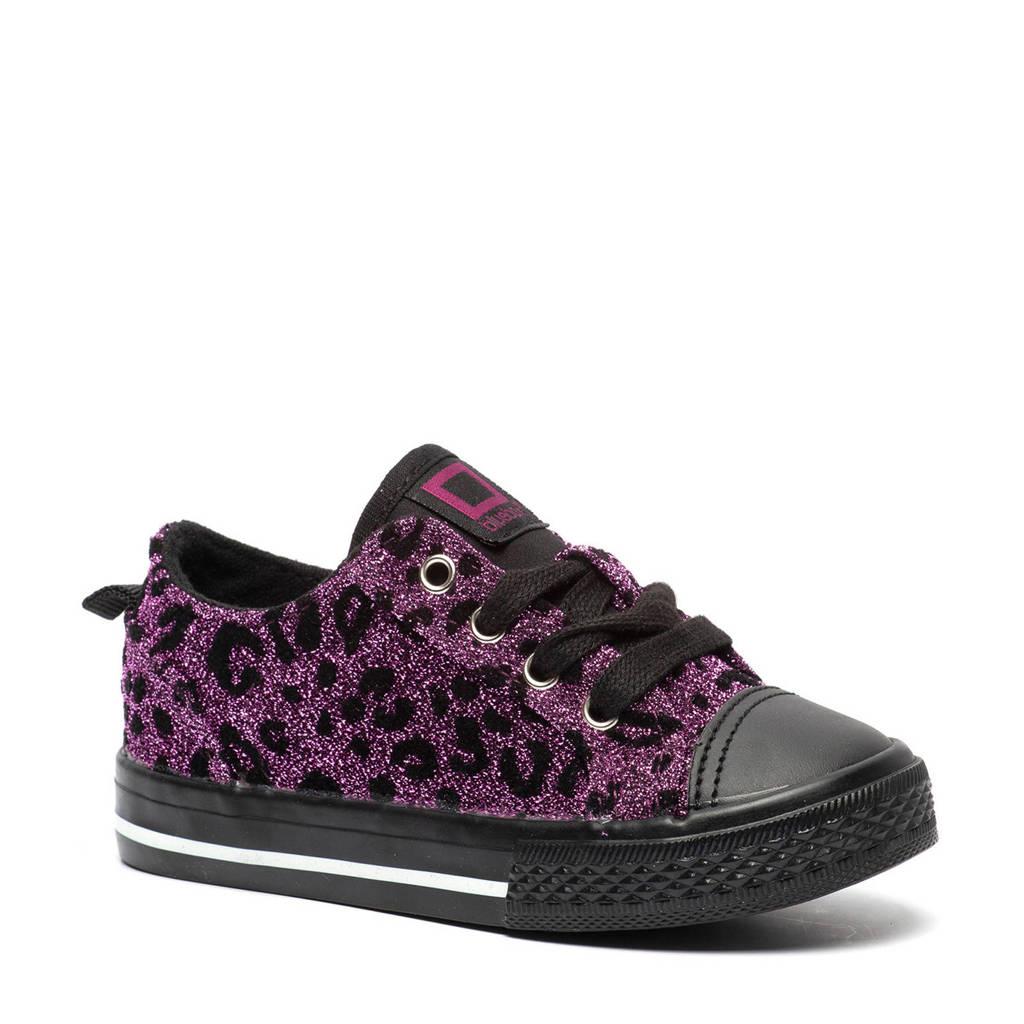 Scapino Blue Box   sneakers met panterprint paars/zwart, Paars/zwart