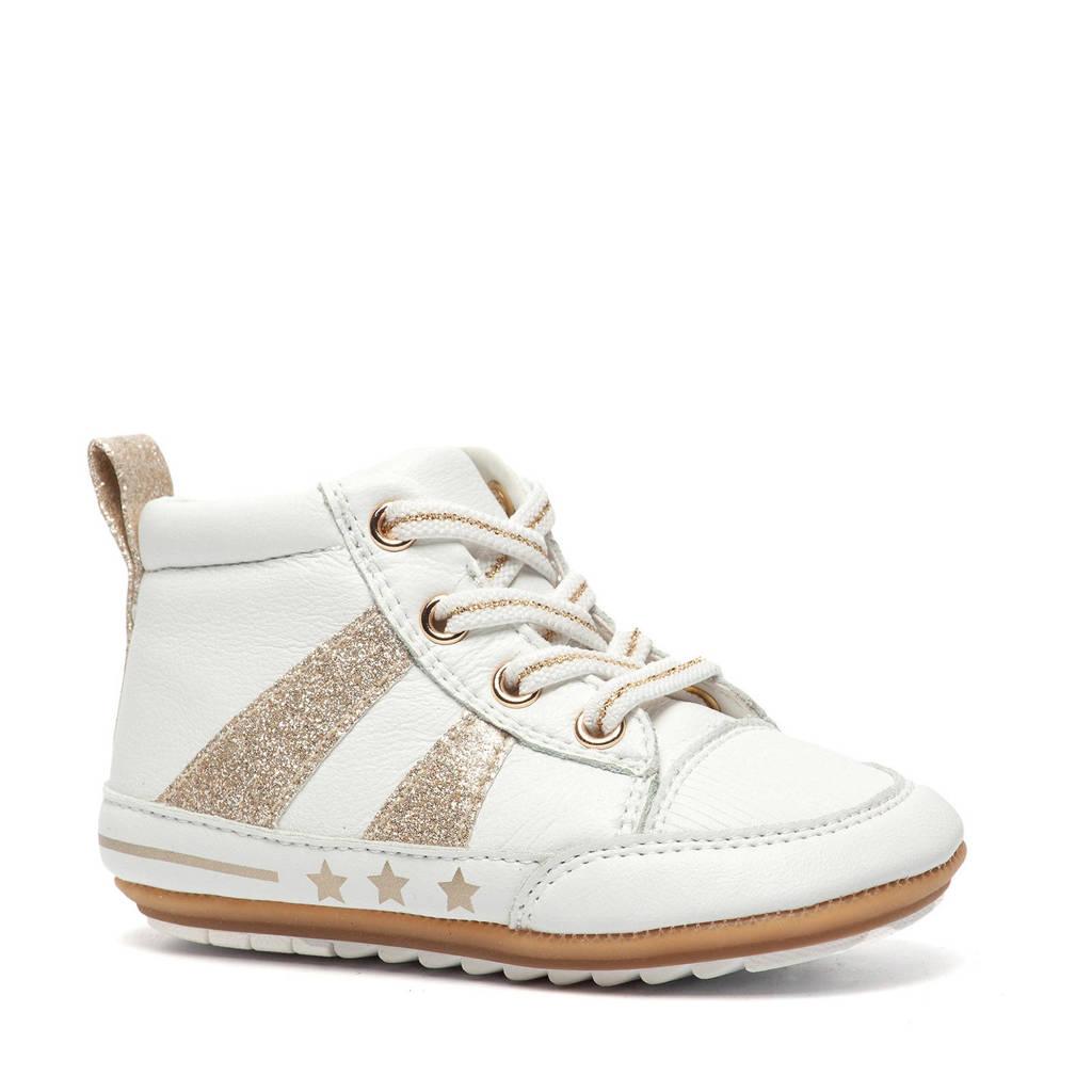 Scapino Groot   leren babyschoenen wit/goud, Wit/goud
