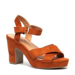 sandalettes cognac