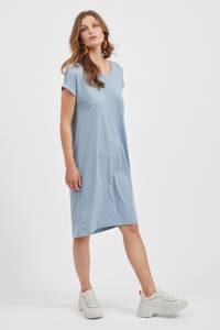 VILA T-shirtjurk VIDREAMERS met biologisch katoen lichtblauw, Lichtblauw
