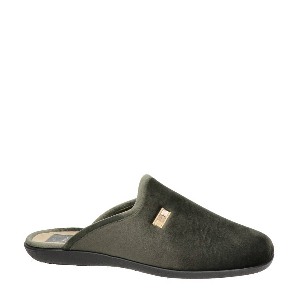 Nelson Home pantoffels kaki, Kaki
