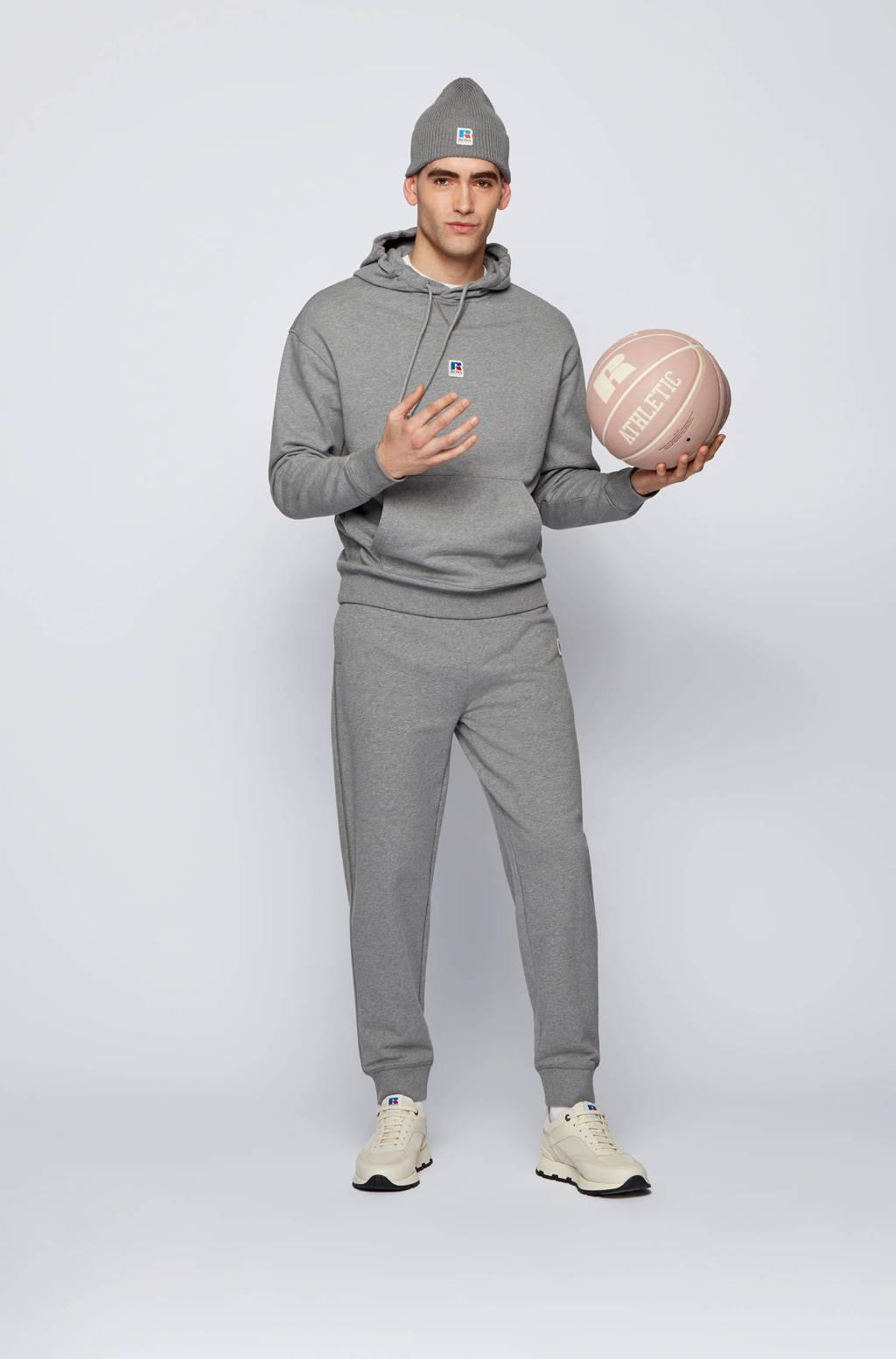 BOSS Menswear BOSS x Russell Athletic regular fit joggingbroek Jafa grijs melange, Grijs melange