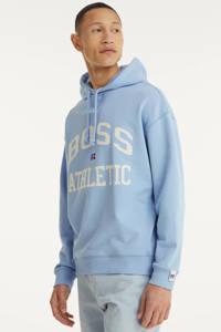 BOSS Menswear BOSS x Russell Athletic hoodie Safa met logo lichtblauw, Lichtblauw
