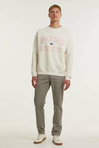 BOSS Menswear BOSS x Russell Athletic sweater Stedman met logo ecru, Ecru