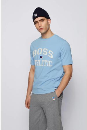 T-shirt met logo lichtblauw