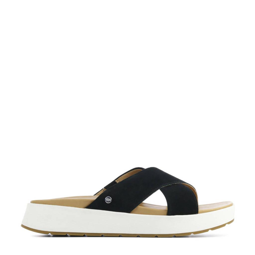 UGG Emily 1119745 suède slippers zwart, Zwart