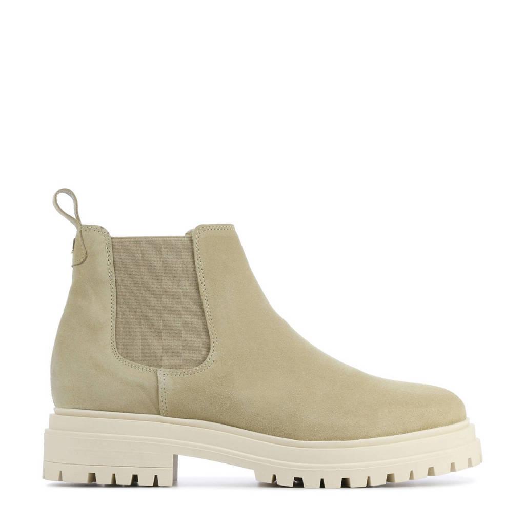 Red Rag 71120  suède chelsea boots beige, Beige